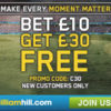 William Hill Review – Bet £10 Get a £30 Free Bet