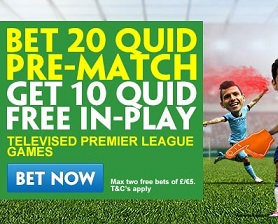 Man Utd v Bournemouth Free In Play Bet at Paddy Power