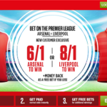 Arsenal v Liverpool – back either to win at Ladbrokes price boost!