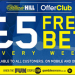 Free £5 Bet at William Hill for Champions League Match Day 6