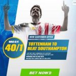 Spurs a massive 40/1 price to beat the Saints with Coral