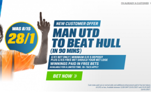 Coral boost Man Utd to 28/1 to beat Hull in the EFL Cup