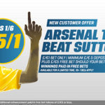 Arsenal 25/1 to put an end to Sutton's FA Cup run