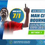 Man City 7/1 price boost to beat Bournemouth with Coral