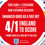 Ladbrokes England v Lithuania Free Bets & Price Boost Offer!