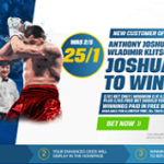 Coral boost Anthony Joshua to 25/1 to beat Klitschko