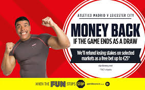 Ladbrokes Free Bet Refunds if Atletico v Leicester is a draw