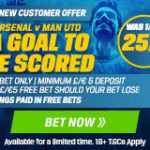 Coral offer 25/1 price boost on a goal in Arsenal v Manchester United!