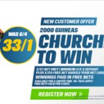 Coral boost Churchill to 33/1 to win 2000 Guineas