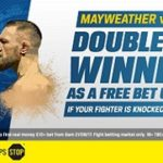 Coral offering double winnings for Mayweather v McGregor